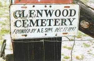 Glenwood Cemetery Sign