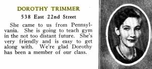 DorothyTrimmerYearbookPic